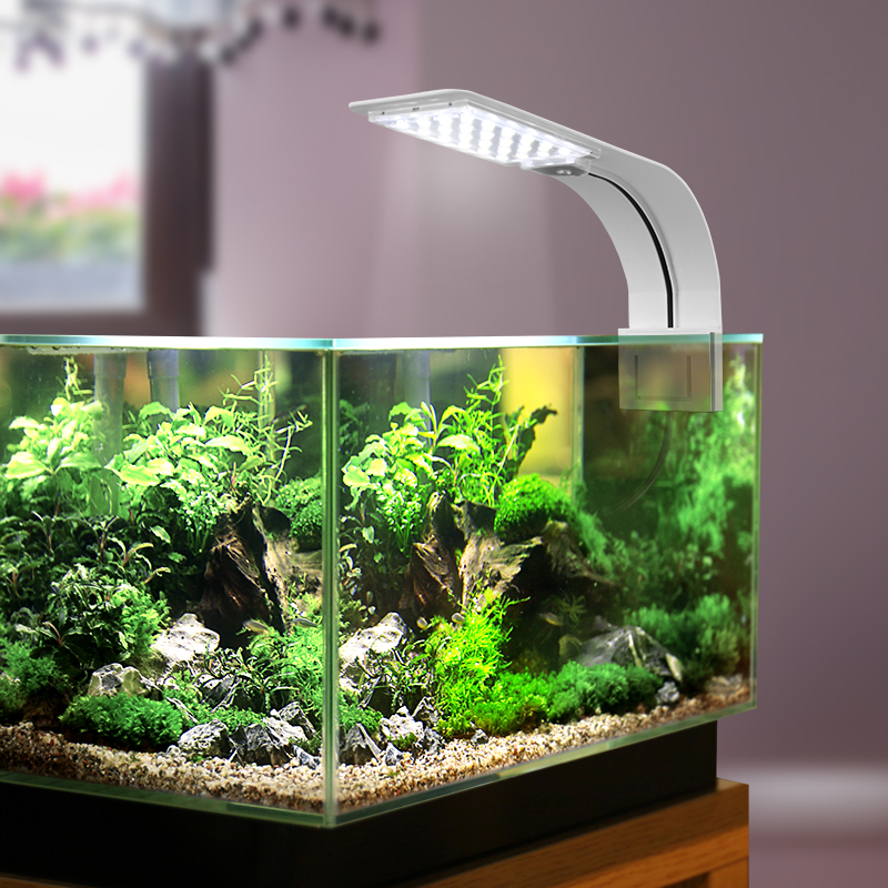 Us 8 64 32 Off Super Slim Led Aquarium Light Marine Fish Tank Lighting Aquatic Plant Grow Waterproof Clip On Lamp For In