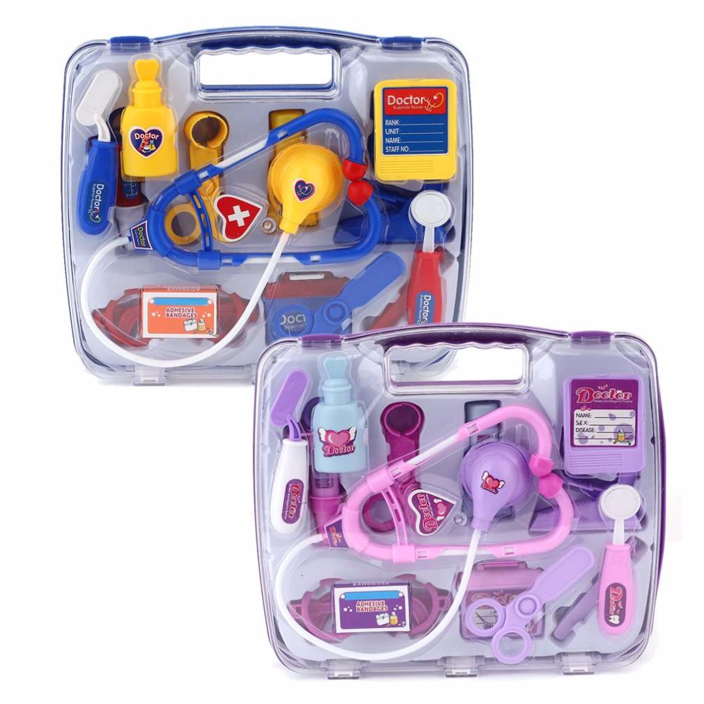 Kids Doctor Toys Pretend Play Set For Children Doctor Set Medicine Box Role Play Educational Baby Toy Doctor Kit Classic Toys