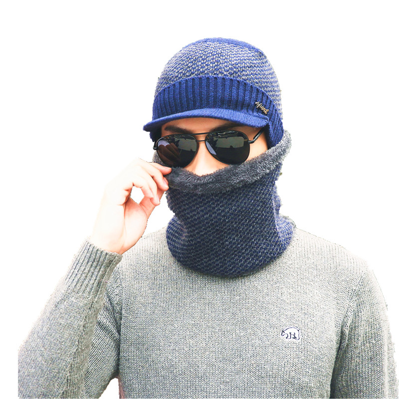 2017 new Winter Hat Knitted Hats Men Women Scarf Caps Mask Gorras Bonnet Warm Winter Beanies For Men Skullies Beanies mask Hat aetrue brand knitted hat winter beanies men caps mask gorras bonnet warm baggy winter hats for men women skullies beanies hats