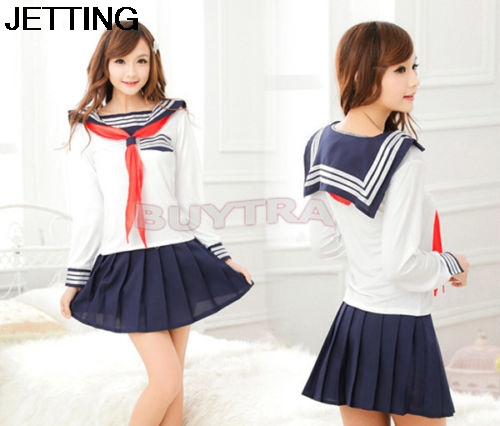 3 pcs School Uniform For Girls Korean Japanese school uniforms Student Cosplay Sailor Costumes Autumn Winter School Dresses