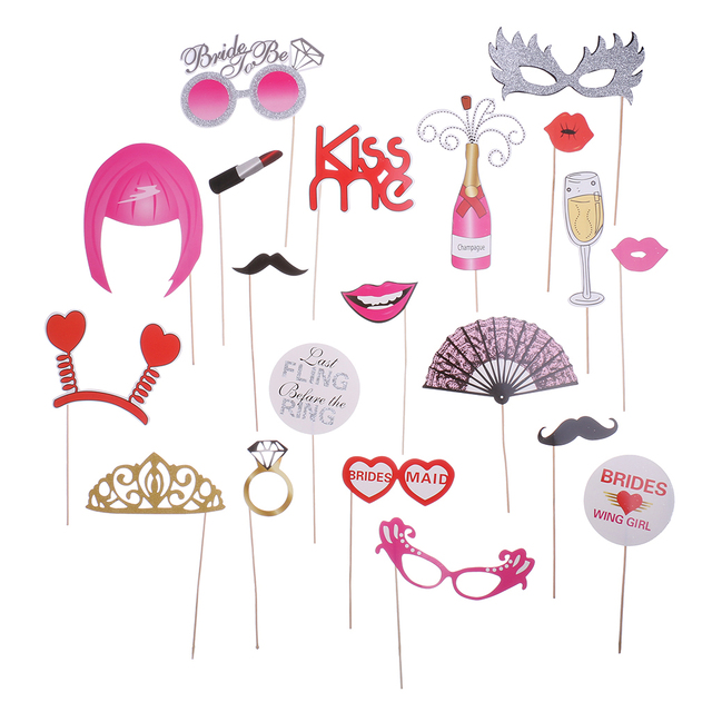 20 Sets Photo Props Mask Cos Costume Photography Decoration Games Favors DIY Night Out Party For