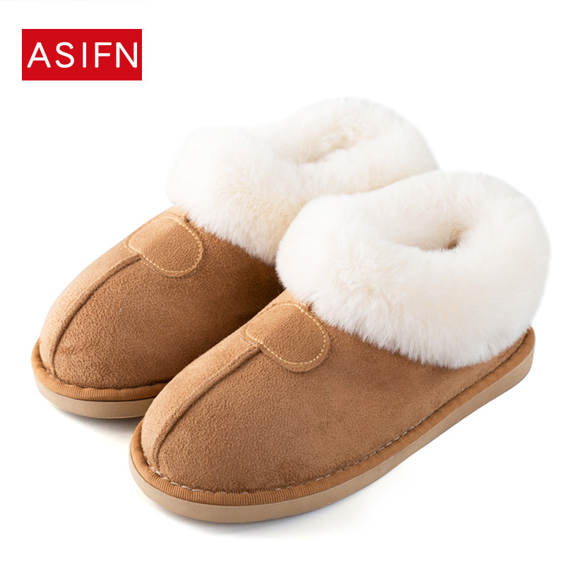2018 Women House Boots Winter Warm Fur Snow Ankle Boots Memory Foam Shoes Women Soft Plush Puppy Indoor House Flats Botas Mujer