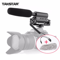 Takstar SGC 598 Microphones Interview MIC Microphone for Nikon Canon DSLR Cameras DV Camcorder for Vloggers/Videomaker