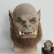 2016 маска из фильма «World of Warcraft», Ogrim Doomhammer, латексная маска для вечеринки, маска на Хэллоуин