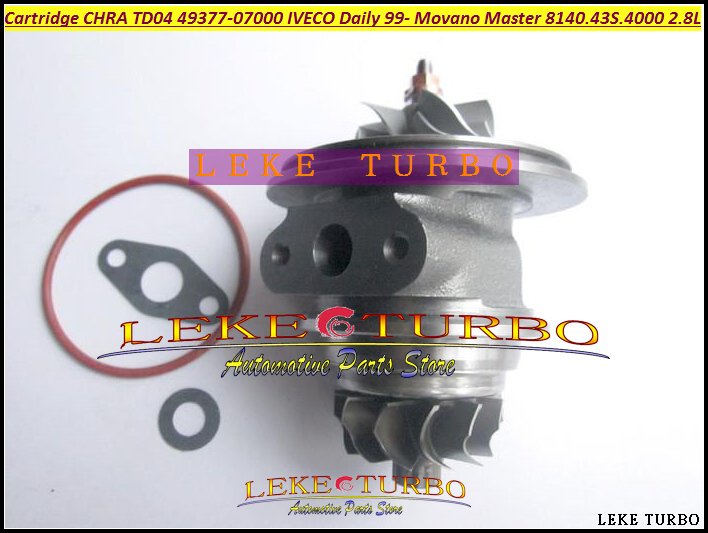 Free Ship Turbo Cartridge CHRA TD04L 49377 07000 53039700075 53039700034 751578 For IVECO Daily Movano Master 8140.43S.4000 2.8L  цены