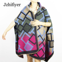 Jzhifiyer YX189 320G 67 190cm Fashion Long Scarf Pashminas Wrap Cape Stole Sleeved Ponchos Shawls