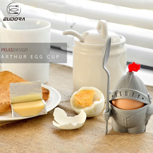 Eudora Egg Cup Holder Creative Soldier Shape Egg Holder Eco-Friendly Kitchen Breakfast Removable Spoon Egg Cup Frame Tool