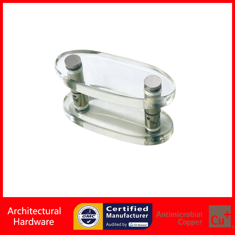 Entrance Door Handle Clear Acrylic Pull Handles For Glass/Wooden/Metal Doors PA-295-25*80*200mm antimicrobial black solid nylon offset door pull handle for entrance glass wooden metal frame doors pa 797