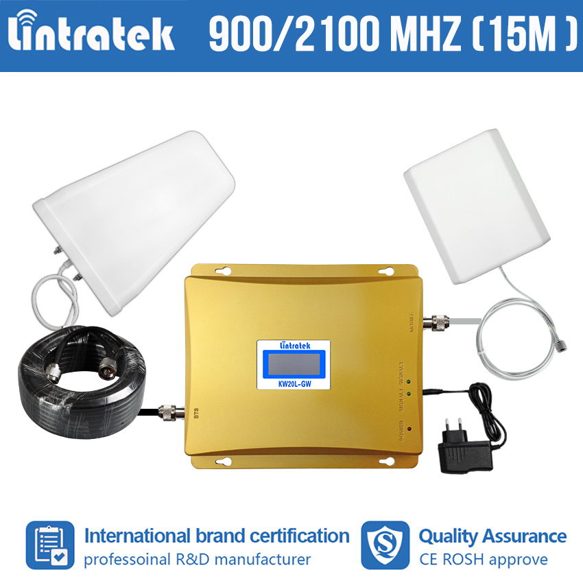 Lintratek Free Shipping 2G 3G Repeater GSM 900 WCDMA 2100mhz Double Band Mobile Phone Signal Booster Cellular Amplifier S8-2Lintratek Free Shipping 2G 3G Repeater GSM 900 WCDMA 2100mhz Double Band Mobile Phone Signal Booster Cellular Amplifier S8-2