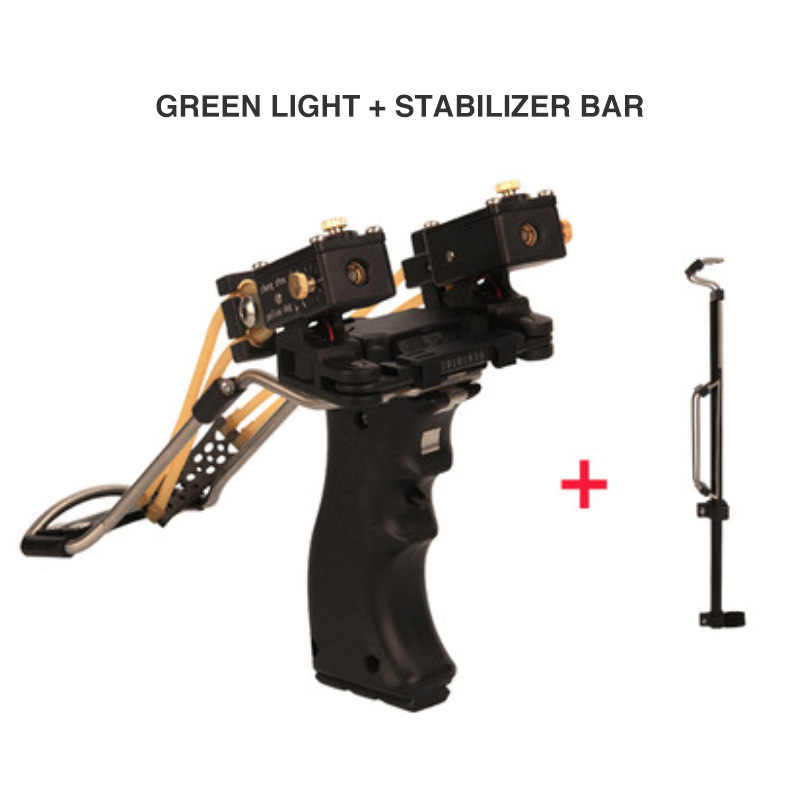 Strong Powerful Hunting Fishing Slingshots Laser Large Folding Wrist Brace Catapult +Rubber Band Outdoor Shooting +Stabilizer T4