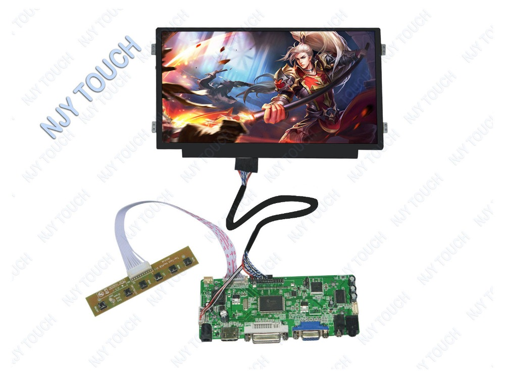 HDMI DVI VGA LCD Controller Kit plus 10.1inch N101BGE-L31 1366x768 LED Screen Panel m nt68676 2a vga dvi hdmi led screen controller board for 10 11366x768 n101bge l31 lcd panel repair diy kit plug and play