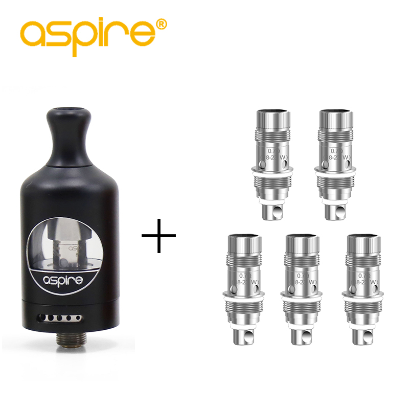 Electronic Cigarette Aspire Nautilus 2 Tank Atomizer 510 Thread + 5pcs Nautilus BVC Coil 0.7ohm for E-cigarettes Zelos Box Mod smoant battlestar 200w tc mod electronic cigarette mods vaporizer e cigarette vape mech box mod for 510 thread atomizer x2093
