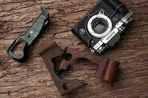 Image 2 - فوجي X T3 XT3 كاميرا Mr. Stone اليدوية جلد طبيعي كاميرا فيديو نصف حقيبة كاميرا ارتداءها