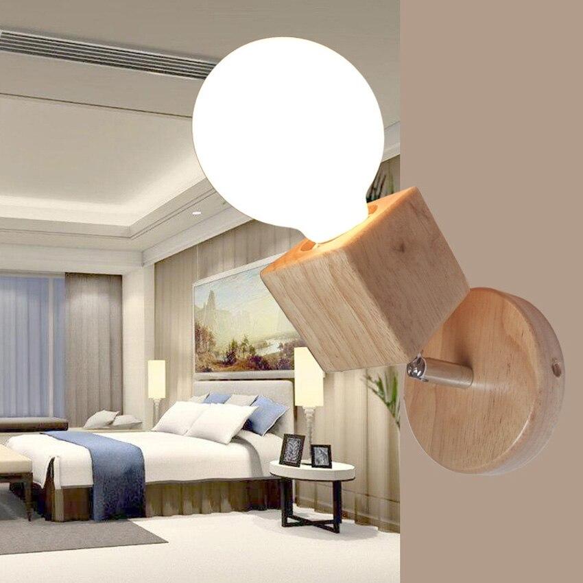 20 13 Applique Murale Moderne En Bois Simple Pour Salon Chambre Chevet Lecture Lumiere Angle Reglable Led Applique Murale Industrielle In Lampes