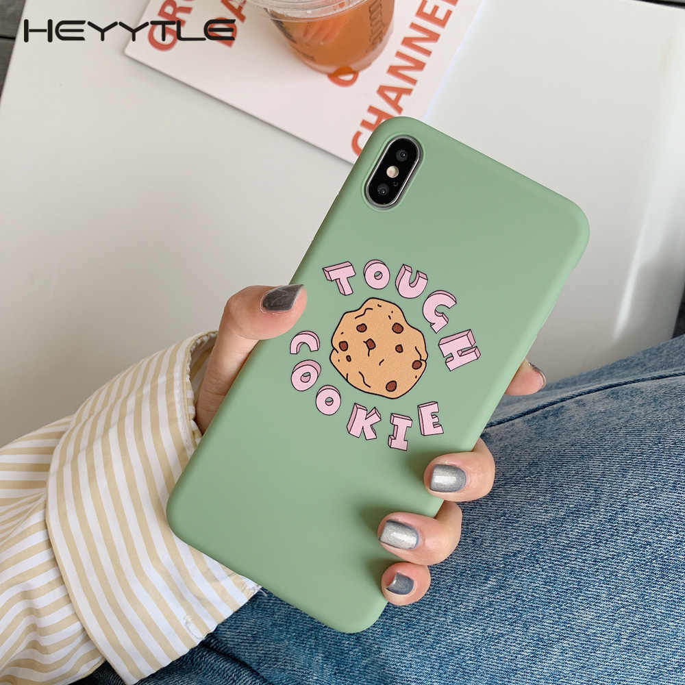 Heyytle Simple Painting Soft Phone Case For iPhone Xs MAX XR X 8 7 6 6S Plus Cute Cartoon Letter Case iPhone 7Plus 9 Cover Coque