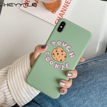 Heyytle Simple Painting Soft Phone Case For iPhone Xs MAX XR X 8 7 6 6S Plus Cute Cartoon Letter 7Plus 9 Cover Coque