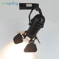 Vintage 5W 7W 10W led track lights with metal shades clothing store track light rail spotlights led spots wandlamp