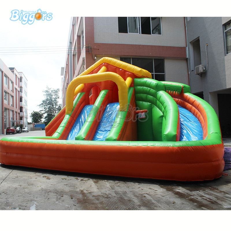Inflatable Water game Inflatable water slide pool amusement game for sale купить в Москве 2019
