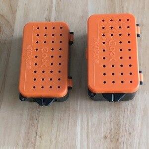 Image 1 - 多機能 2 コンパートメントボックス 10*6*3.2 センチメートルプラスチックミミズワームベイトルアーフライ鯉釣具ボックスアクセサリー