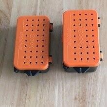 Multifunctionele 2 Compartimenten Vissen Box 10*6*3.2 cm Plastic Regenworm Worm Aas Lokken Fly Karper Visgerei box Accessoires