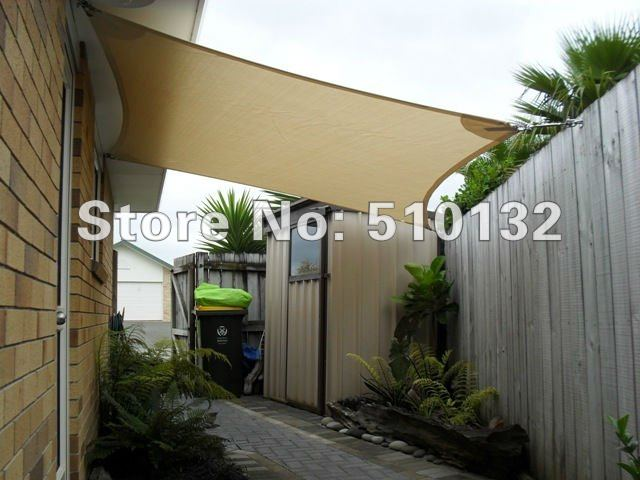5x5m 185gsm Square Heavy Duty Sun Shade Canopy Sail Patio Outdoor