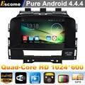 4 Ядер Quad Core Pure Android 4.4 Dvd-плеер Автомобиля Opel Astra J 2010 2011 2012 2013 Opel Astra С 16 Г Встроенной Памяти GPS
