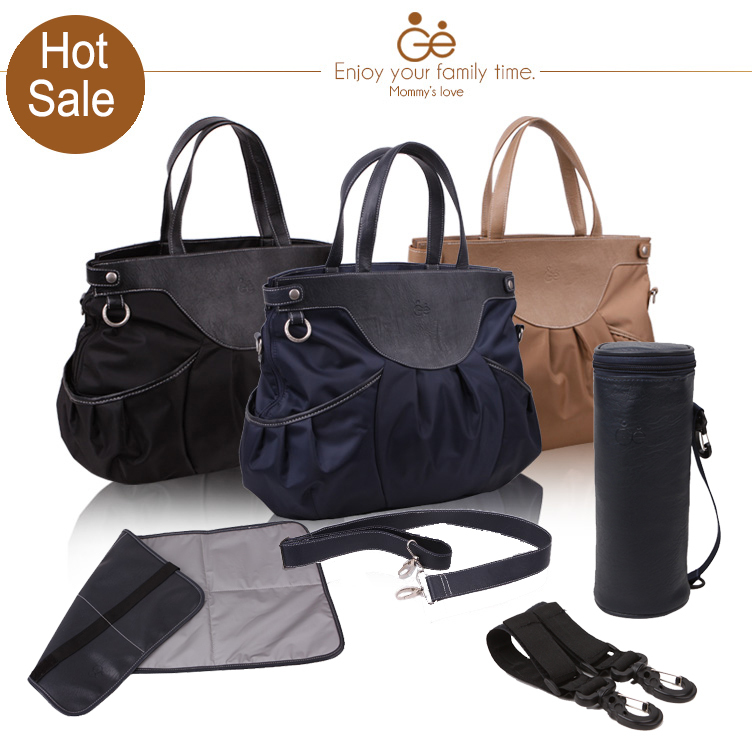 2014 4in1 multifunctional polyester pu leather baby diaper bags maternity mommy bag baby. Black Bedroom Furniture Sets. Home Design Ideas