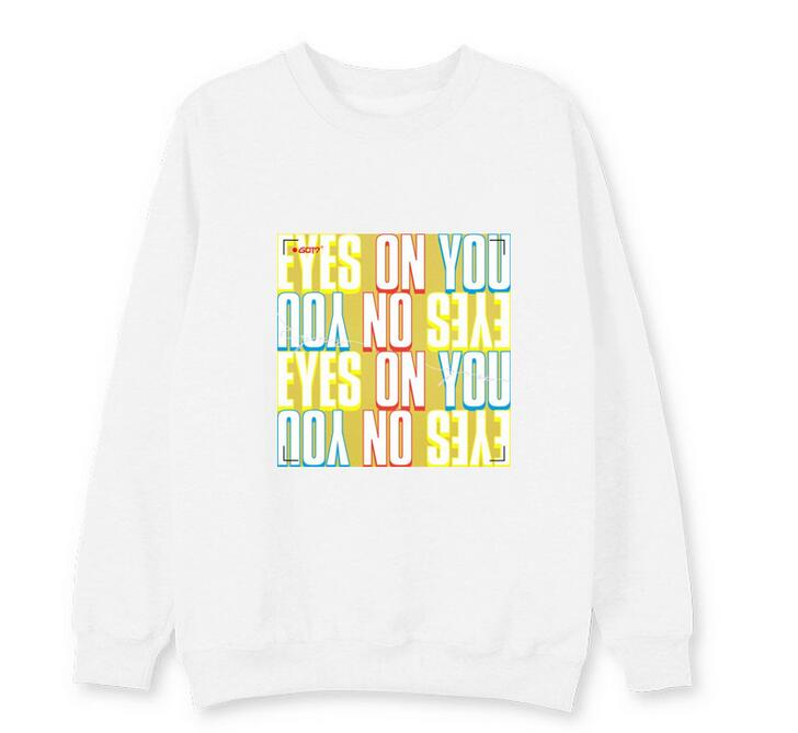Women's Clothing Original New Arrival Got7 Album Eyes On You Member Name Printing O Neck Sweatshirt Kpop I Got7 Supportive Unisex Pullover Thin Hoodies