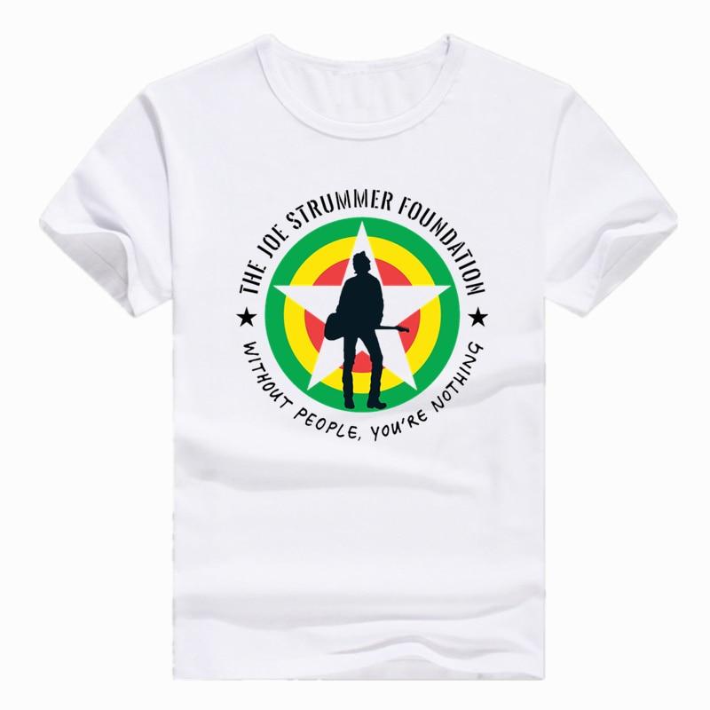 Asian Size Print The Clash - Joe Strummer T-shirt Short sleeve O-Neck Tshirt For Men And ...