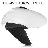 Unpainted White Front Wheel Fender Mudguard Splash Extension Extender Fairing Cover For Kawasaki Ninja ZX6R ZX 6R 2005 Body Kit