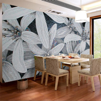Beibehang Three Dimensional Relief Flower Home And Rich Silver Romantic Background Custom Large Mural Wallpaper Papel