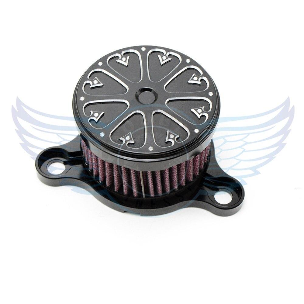 motorcycle accessories Air Cleaner Intake Filter System Kit black color For Harley-Davidson Sportster 1200 Custom XL1200C 2008 дверь цельно металлическая дцм медный антик медный антик 880х2050