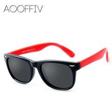 AOOFFIV TR90 Flexible Kids Sunglasses Polarized Child Baby Safety Coating Sun Glasses UV400 Eyewear Shades Infant oculos de sol