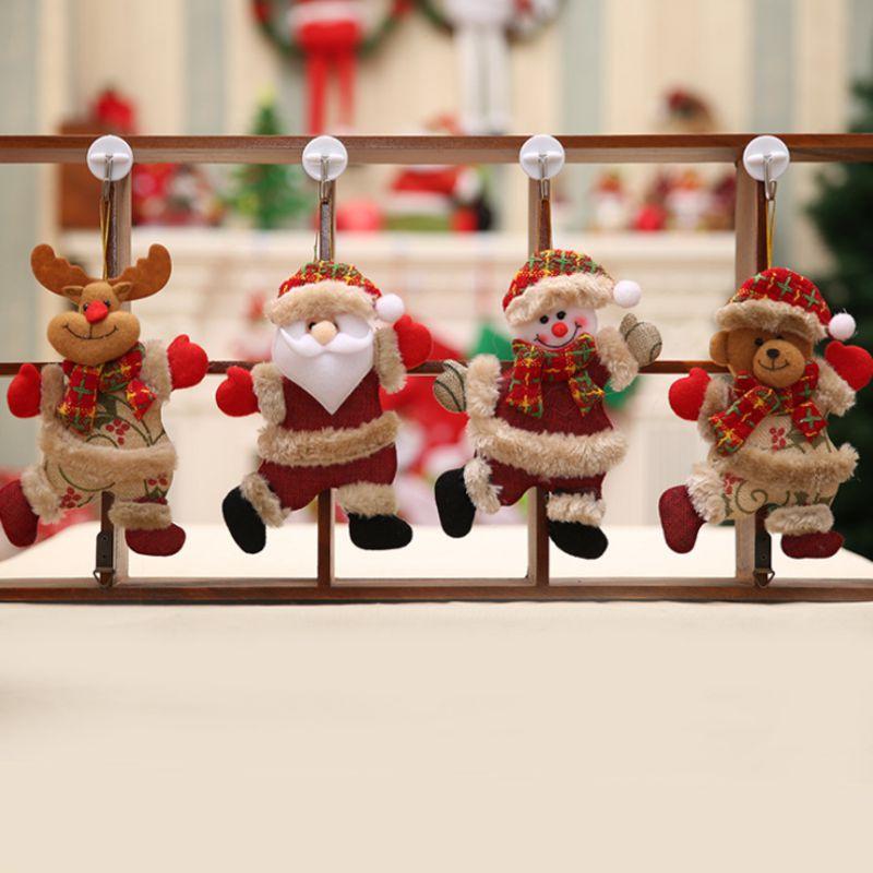 Noël Santa Claus Doll Toy ornements arbre de Noël décoration pour la maison