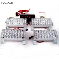 FUGSAME NEW Car Flashing 4 22 88 Emergency LED Strobe Light Red Blue White Green Amber