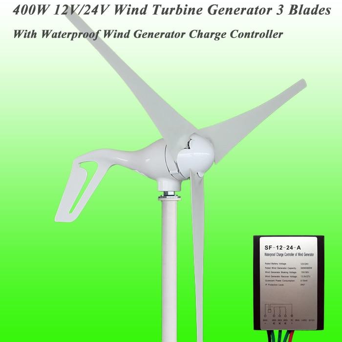 Big Sale 3/5 Blades Optional 400W 12V/24V Small Wind Turbine Generator Permanent Magnet Wind Generator For Home Lighting, Boats