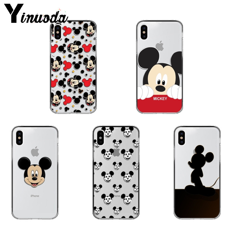 Image 1 - Yinuoda Cute Mickey Mouse TPU Phone Case Cover Shell for iPhone X Xs Xr XsMax 10 7 7plus 8 8plus 6 6s 5 5S SE 5C-in Half-wrapped Cases from Cellphones & Telecommunications