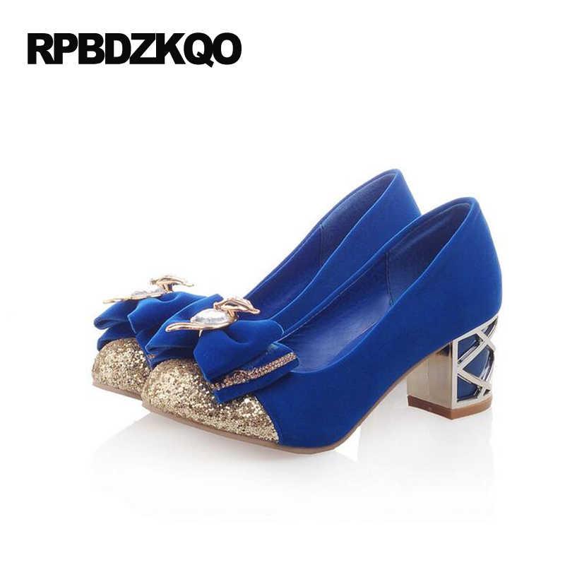 2017 Royal Blue Velvet Crystal Jewel