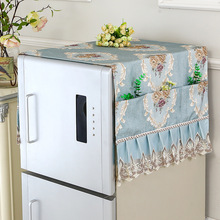 European Brocade Fabric Microwave Oven Furniture Electrical Waterproof Dustproof Tablecloth Multi-pocket Cover Cloth Hanging Bag