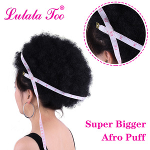 Image 4 - 10inch Afro Puff Synthetic Hair Bun Chignon Hairpiece For Women Drawstring Ponytail Kinky Curly Updo Clip Hair Extensions