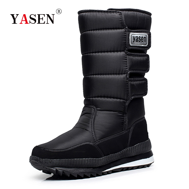 snow boots men waterproof mens winter boots With Fur winter shoes slip-resistant Men Boots platform thick plush warm Plus size 1
