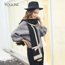 YOULINE Top Quality Women Long solid color Cashmere Scarf Butterfly print Shawls Ladies Solid thick warm Tassel Pashmina S17344