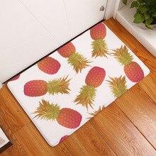 Hot Floor Mat Ananas Pineapple Printed Suede Doormat Home De