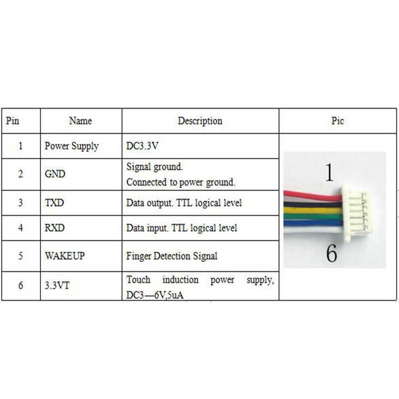 K216 carte de contrôle d'empreintes digitales + R503 Module d'empreintes digitales deux couleurs anneau indicateur lumineux contrôle d'accès