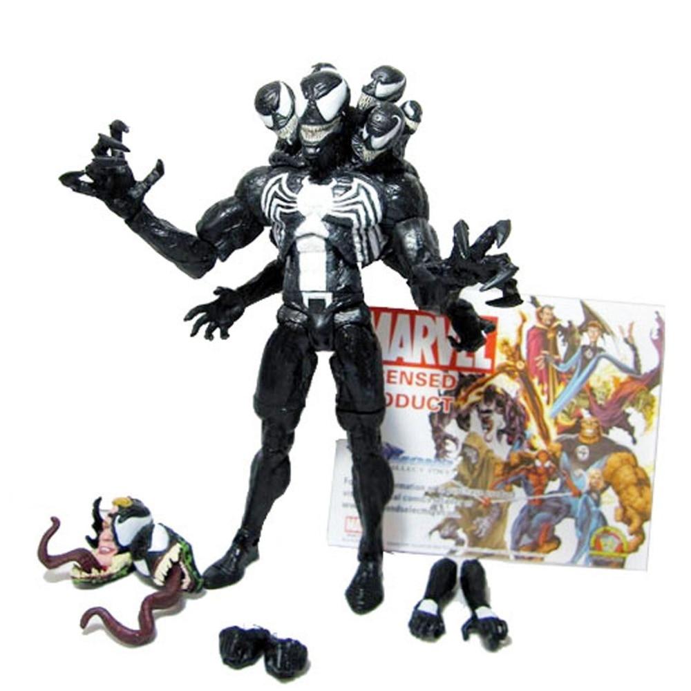 Marvel Select Toys Spider-Man Venom Interchangeable Hedds & Hands PVC Action Figure Collcetion Model DC003013