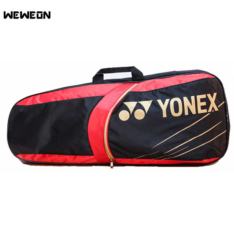 Racquet Sports Tennis Bag Badminton Backpack for Teenager's 3-4Pcs Tennis Racket Bag Stylish Waterproof Nylon Accessories