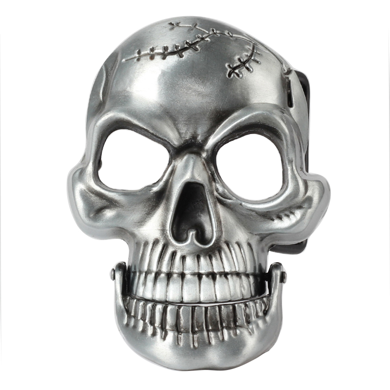 Chin Buckle Scalp Skull Activities Fun Belt Buckle
