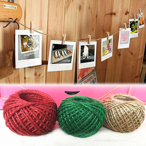 New Design 30m Style 1Roll Jute String Hemp Rope for Jewelry Necklace Making DIY Xmas Decor BIQB