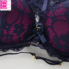 Seamless Cotton Underwear Women Floral Sexy Lace Bra