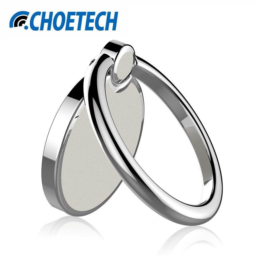 CHOETECH телефон кольцо держатель для samsung S8 плюс 360 градусов вращения Универсальный Металл палец кольцо держатель для телефона, Подставка Крон…